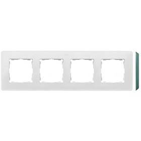 8200640-202 Рамка на 4-ая Simon 82 Detail Original Белый-Основание Цвет Морской Волны