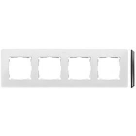 8200640-230 Рамка на 4-ая Simon 82 Detail Original Белый-Основание Основание Алюминий