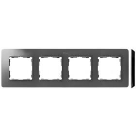 8200640-293 Рамка на 4-ая Simon 82 Detail Original Алюминий-Основание Чёрное