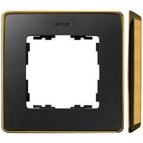 8201610-242 Рамка 1-ая Simon 82 Detail Select Графит-Основание Золото