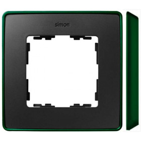 8201610-250 Рамка 1-ая Simon 82 Detail Select Графит-Основание Зелёное