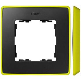 8201610-262 Рамка 1-ая Simon 82 Detail Select Графит-Основание Неоново-Жёлтое