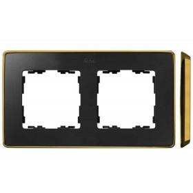 8201620-242 Рамка 2-ая Simon 82 Detail Select Графит-Основание Золото