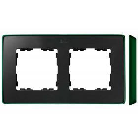 8201620-250 Рамка 2-ая Simon 82 Detail Select Графит-Основание Зелёное