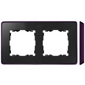 8201620-251 Рамка 2-ая Simon 82 Detail Select Графит-Основание Фиолетовое