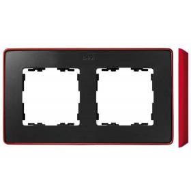 8201620-252 Рамка 2-ая Simon 82 Detail Select Графит-Основание Красное