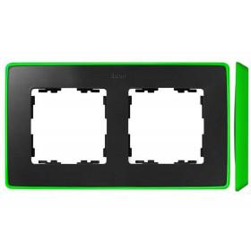 8201620-260 Рамка 2-ая Simon 82 Detail Select Графит-Основание Неоново-Зелёное
