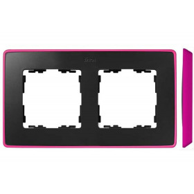 8201620-261 Рамка 2-ая Simon 82 Detail Select Графит-Основание Неоново-Розовое