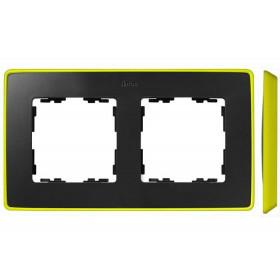 8201620-262 Рамка 2-ая Simon 82 Detail Select Графит-Основание Неоново-Жёлтое