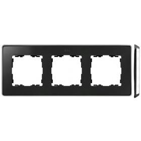 8201630-241 Рамка 3-ая Simon 82 Detail Select Графит-Основание Хром