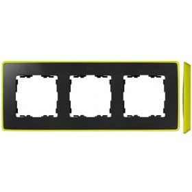 8201630-262 Рамка 3-ая Simon 82 Detail Select Графит-Основание Неоново-Жёлтое
