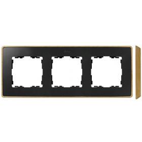 8201630-271 Рамка 3-ая Simon 82 Detail Select Графит-Основание Бук