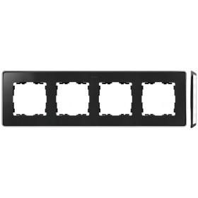 8201640-241 Рамка 4-ая Simon 82 Detail Select Графит-Основание Хром