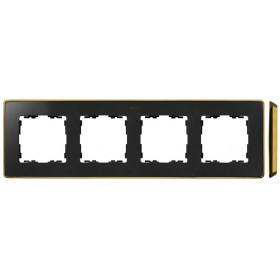 8201640-242 Рамка 4-ая Simon 82 Detail Select Графит-Основание Золото