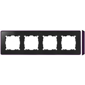 8201640-251 Рамка 4-ая Simon 82 Detail Select Графит-Основание Фиолетовое