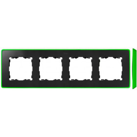 8201640-260 Рамка 4-ая Simon 82 Detail Select Графит-Основание Неоново-Зелёное