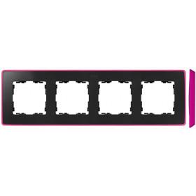 8201640-261 Рамка 4-ая Simon 82 Detail Select Графит-Основание Неоново-Розовое