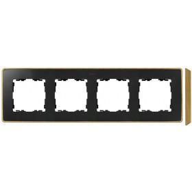 8201640-271 Рамка 4-ая Simon 82 Detail Select Графит-Основание Бук