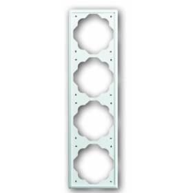 Рамка 4-ая ABB Impuls Белый бархат 1754-0-4435 IP20