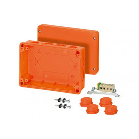 60001004 FK 7165 Коробка ответвительная огнестойкая Hensel, IP65, 242х168х85 мм, ОРАНЖЕВАЯ