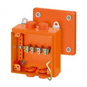 6000114 FK 9025 Коробка ответвительная огнестойкая Hensel, IP66, 150х150х80 мм, ОРАНЖЕВАЯ