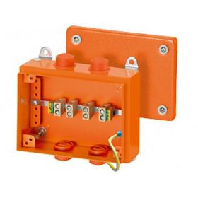 6000115 FK 9105 Коробка ответвительная огнестойкая Hensel, IP66, 150х200х80 мм, ОРАНЖЕВАЯ