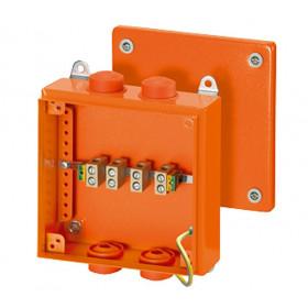 6000116 FK 9255 Коробка ответвительная огнестойкая Hensel, IP66, 200х200х80 мм, ОРАНЖЕВАЯ