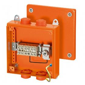 6000109 FK 9259 Коробка ответвительная огнестойкая Hensel, IP66, 200х200х80мм, с предохран.ОРАНЖЕВАЯ