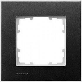 Рамка 1-ая Siemens Delta Miro Черный металлик 5TG11112 IP20