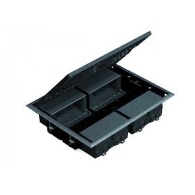 KF400-1 Лючок на 8 механизмов 45х45мм, глубина 64мм, СЕРЫЙ