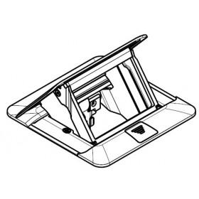 54020 Лючок напольный металлический на 1,5 модуля 45*45мм, Нержавеющая сталь