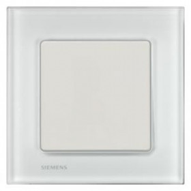 Рамка 1-ая Siemens Delta Miro Стекло белое 5TG12011 IP20