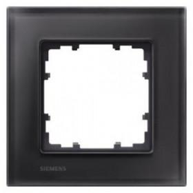 Рамка 1-ая Siemens Delta Miro Стекло черное 5TG12012 IP20