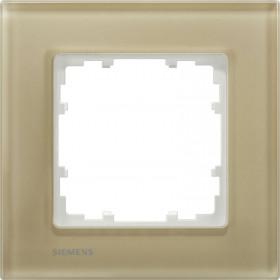 Рамка 1-ая Siemens Delta Miro Стекло бежевое 5TG12014 IP20