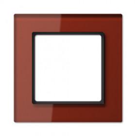 Рамка 1-ая Jung А сreation Красный Оксид AC581GLRT IP20