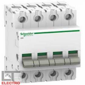 A9S60491 Выключатель нагрузки (рубильник) модульный(ACTI 9 iSW) 4-полюса 100A