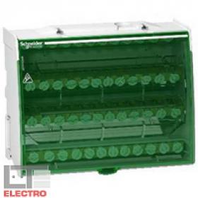 LGY412548 Блок распределительный(кросс-модуль) на DIN-рейку и монтажную плату 4 полюс 125А, 48 клемм