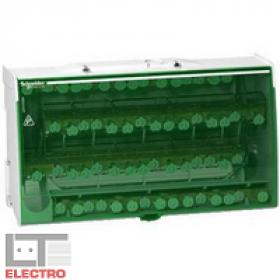 LGY412560 Блок распределительный(кросс-модуль) на DIN-рейку и монтажную плату 4 полюс 125А, 60 клемм
