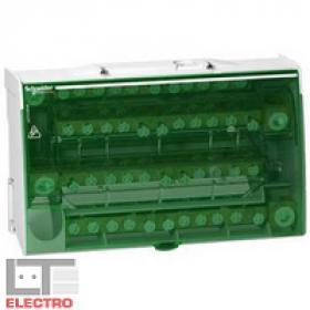 LGY416048 Блок распределительный(кросс-модуль) на DIN-рейку и монтажную плату 4 полюс 48А, 48 клемм