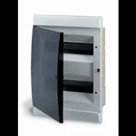 1SL0512A06 Бокс встраеваемый 2*12 модулей(Unibox) с дымчатой дверью IP41 с клеммным блоком