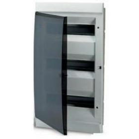 1SL0513A06 Бокс встраеваемый 3*12 модулей(Unibox) с дымчатой дверью IP41 с клеммным блоком
