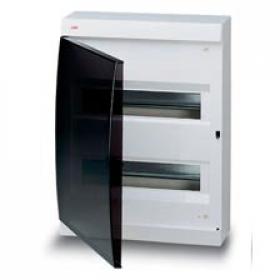 122640006 Бокс навесной 2*12 модулей(Unibox) с дымчатой дверью IP41 с клеммным блоком