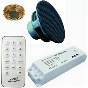 FD51000-M Встраиваемое радио Fede для установки в точечные светильники с пультом ДУ, динамик Чёрный