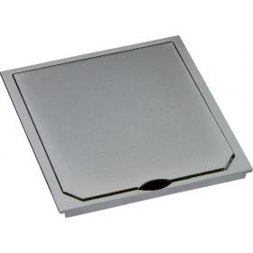 1632ESM Крышка лючка BOWA 112*112 мм на 2 розетки,  IP41, Нержавеющая сталь