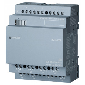 6ED1055-1FB10-0BA2 Модуль расширения LOGO!8! DM16 230R реле 115/240V AC/DC