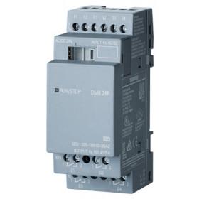 6ED1055-1HB00-0BA2 Модуль расширения LOGO!8 DM8 24R реле12/24V DC