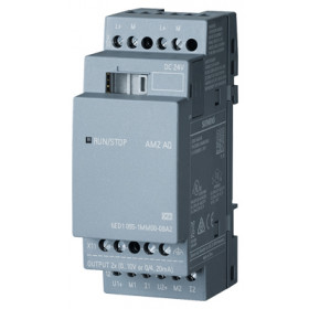 6ED1055-1MM00-0BA2 Логический модуль LOGO! AM2 AQ пит.24V DC, 2 AO, сиг.0-10V/ 0,4-20mA