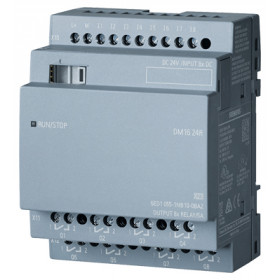 6ED1055-1NB10-0BA2 Модуль расширения LOGO!8 DM16 24R реле 24V DC