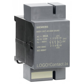 6ED1057-4CA00-0AA0 Модуль коммутации LOGO! Compact 24, 20А 400V AC, катушка 24V