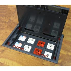 70080 Люк в пол на 8 механизмов 45х45мм (LUK/8) пластиковый, Чёрный